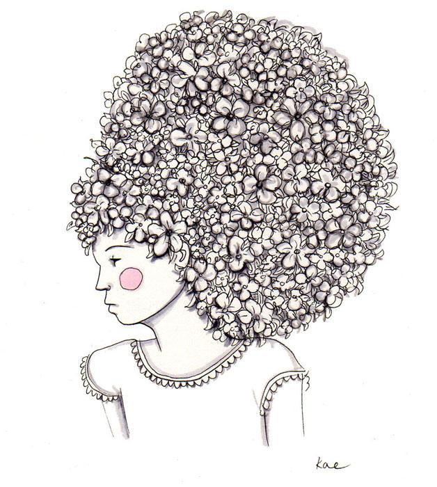 flower beehive hair