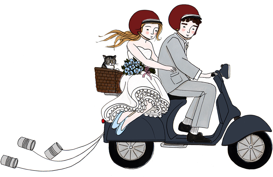 Vespa Just Married